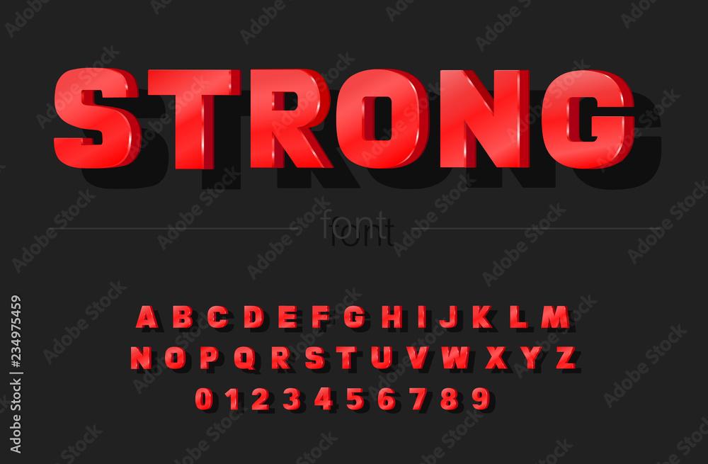 Fototapety, obrazy: Trendy bold font. Vector illustration
