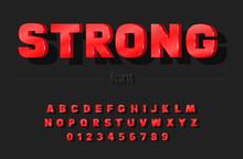 Trendy Bold Font. Vector Illus...