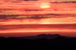 Sunset over the West Cascades, from Carpenter Mountain fire lookout, H.J. Andrews Experimental Forest, Willamette National Forest, Oregon, USA