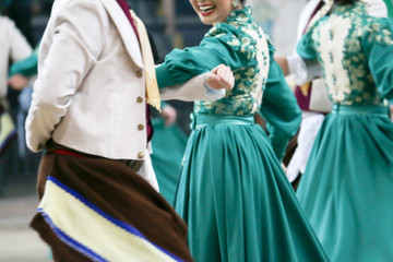 Presentation of group of dances typical gaúchas.