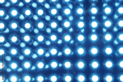 Led panel in fluorescent light close up Canvas Print