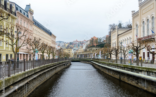 Karlovy Vary is a spa town in the Czech Republic Tableau sur Toile