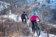 Two Women Riding Fat Bikes In ...