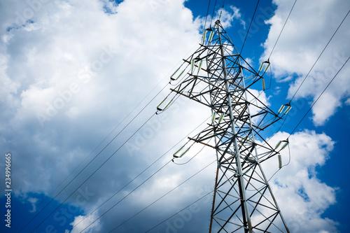 Fotografie, Obraz  High voltage post