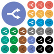Split arrows up round flat multi colored icons