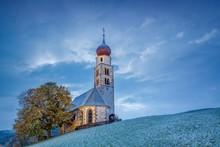 Church Of Saint Valentine, Seis Am Schlern, Siusi Allo Sciliar, Dolomites, Trentino-Alto Adige, Italy