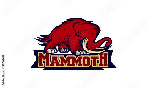 Photo  mammoth logo design template