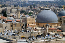 Jerusalem Cityscape With The Church Of The Holy Sepulchre