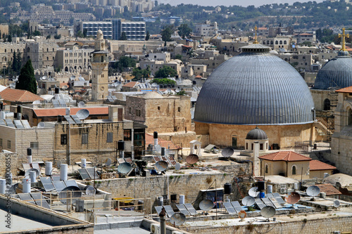 Fotografía Jerusalem cityscape with the Church of the holy Sepulchre