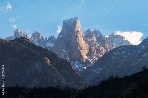 Naranjo de Bulnes mountain peak in Picos de Europa national park, Asturias, Spai Canvas Print