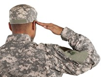 Soldier In Uniform Saluting, B...