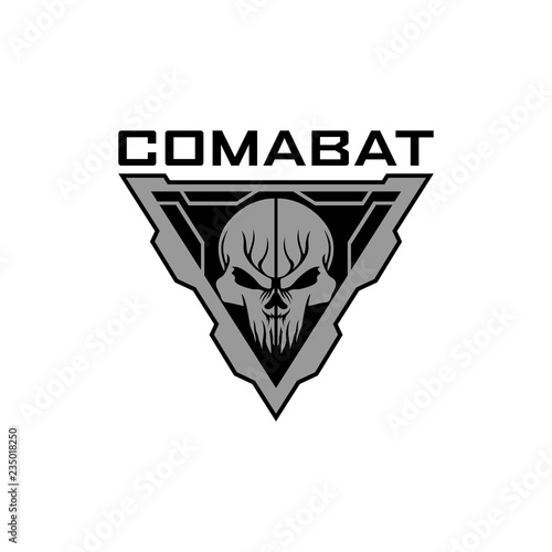 Fotomural combat tactical skull logo