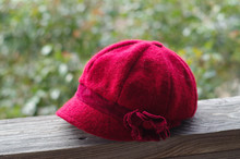 Red Felted Wool Period Repro Cap From Sicily