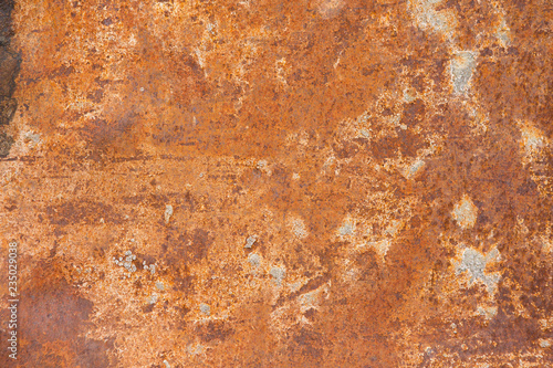 Fototapety, obrazy: Rusted metal, rusty plate, shot holes