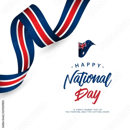 Photo  Happy Australia National Day Vector Template Design Illustration