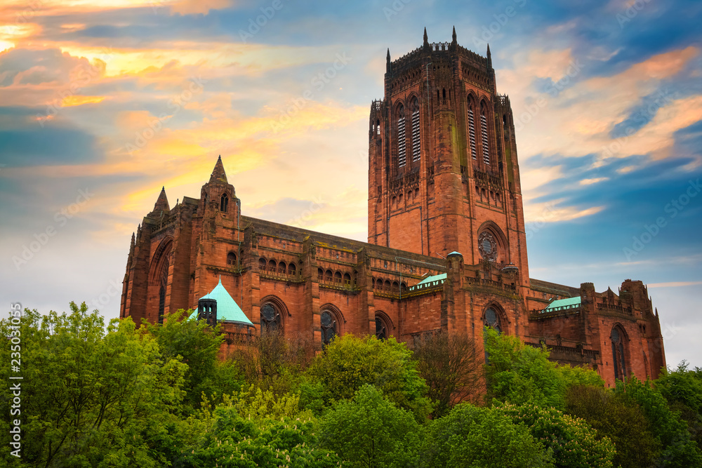 Fototapety, obrazy: Liverpool Cathedral in Liverpool, UK