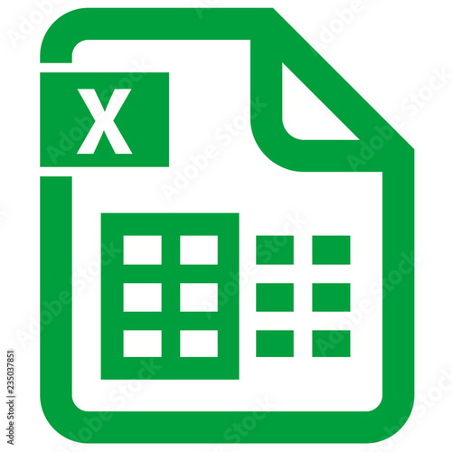 Photo  digital file office excel icon