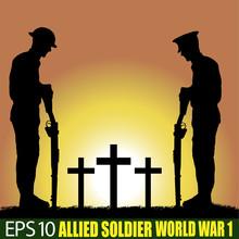 Wolrd War One Allied Soldier Silhouette.