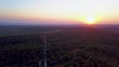Orbiting around a telecommunication tower in Hungary.