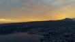 Drone over South Lake Garda at Sunset