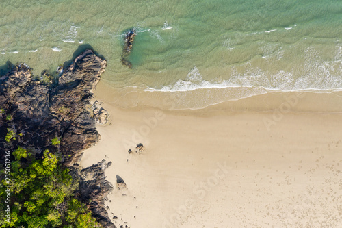 Poster Oceanië Aerial view of Noah Beach - Daintree - Queendland Australia