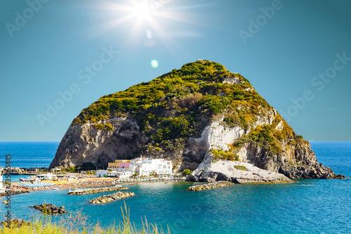 Canvas Prints Cappuccino View of Sant Angelo, Ischia island Italy