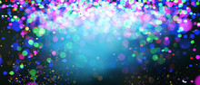 Abstract Colorful Blurred Lights For Festive Background Design Such As Christmas Or Other Seasonal Holidays,3d Illustration