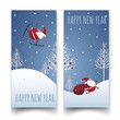 Christmas labels design, Happy new year.