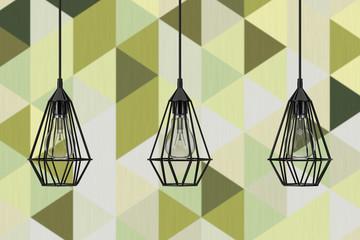 FototapetaVintage Lighting Decor Ceiling Lamps. 3d Rendering