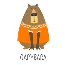 Capybara Hydrochoerinae Family...