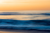 Abstract, seascape, long exposure, sunset over the sea - 235079646