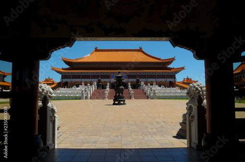 Photo Stands Beijing Temple landscape