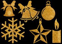 Christmas Glitter Design Eleme...