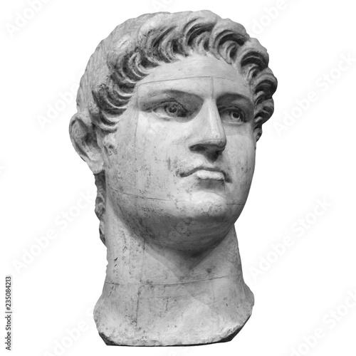 Foto op Plexiglas Historisch geb. Portrait of roman emperor Nero Claudius Caesar Augustus Germanicus isolated on white background