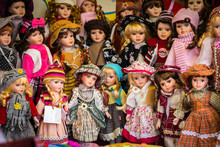 Vintage Dolls With Traditional...