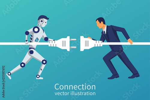 Fotografia  Business and robot connection