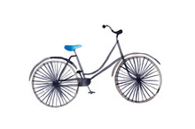 Watercolor Blue Bicycle