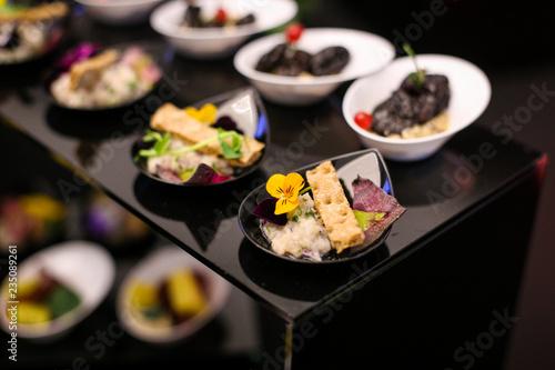 Obraz Fine dining appetisers - fototapety do salonu