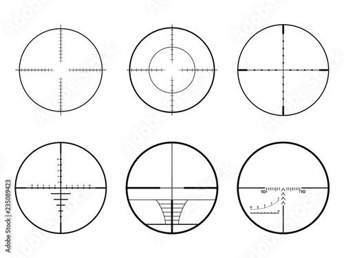 Pinturas sobre lienzo  Set of AR crosshair scopes