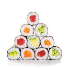 Pyramid Of Sushi Hosomaki