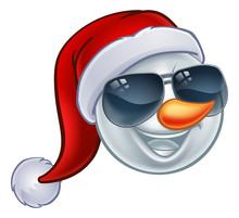 A Cool Snowman Christmas Emoti...