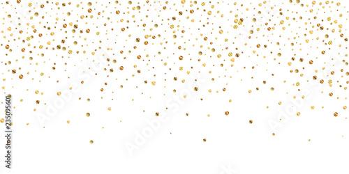 Obraz Sparse gold confetti luxury sparkling confetti. Sc - fototapety do salonu
