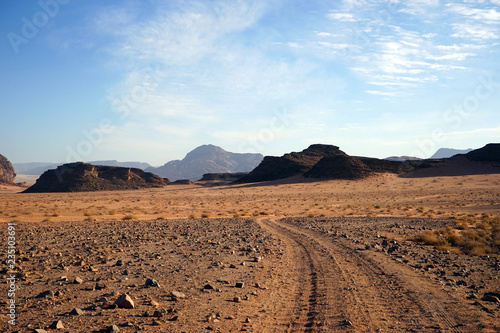 Track in desert © Valery Shanin