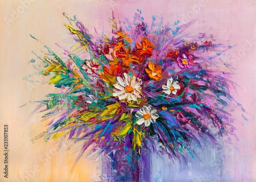 Obraz Bukiet kolorowych kwiatów - fototapety do salonu