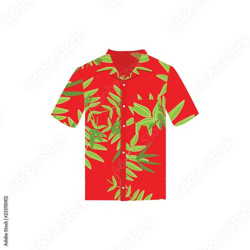 Vector illustration Hawaiian aloha shirt Wallpaper Mural
