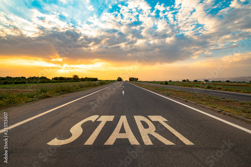 In de dag Route 66 Start