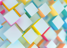 Abstract Background With Coloured Cubes