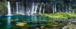 canvas print picture - Wasserfall Panorama mit türkisblauem Wasser