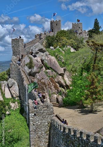 Plakat Średniowieczny zamek z mauretańskiego pochodzenia