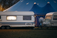 Camping Trailers Of Traveling Circus